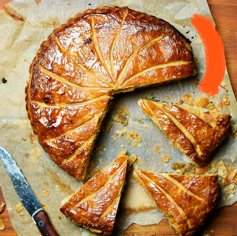 Galette delivered to frangipane