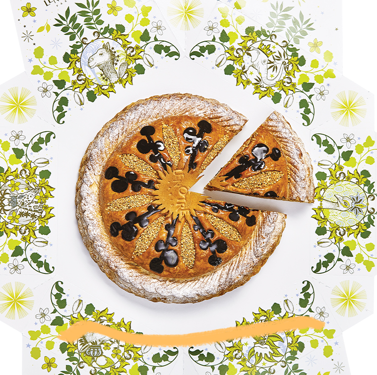 Galette almond, galette fruitee with pineapple or brioche bordelaise