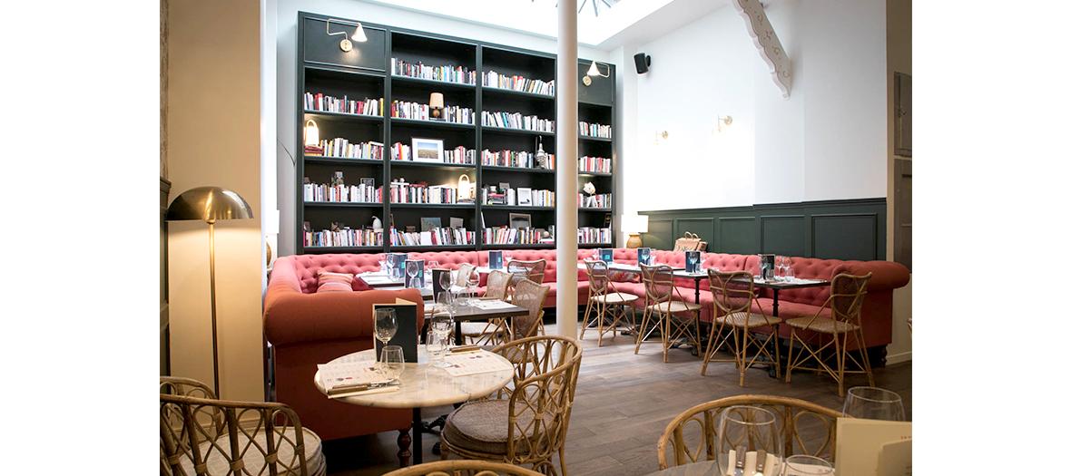 Intérieur du restaurant, déco par Christie Ward
