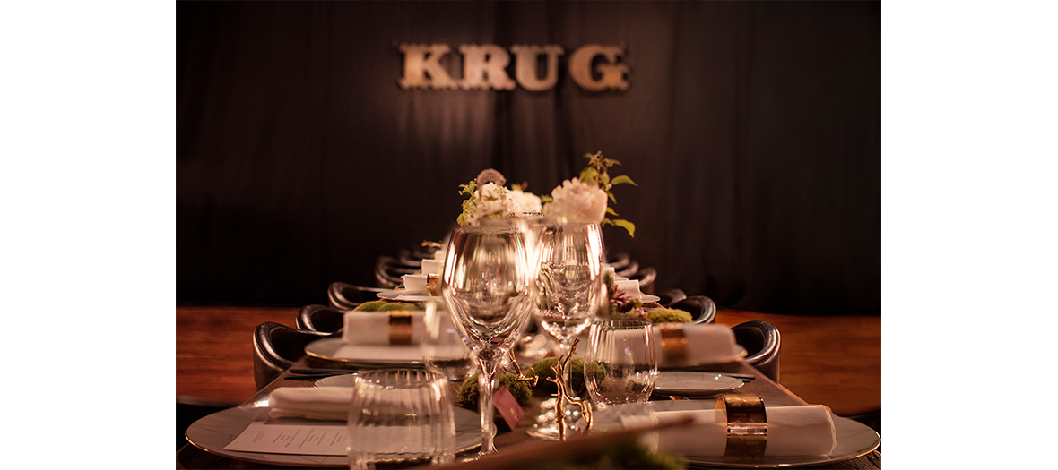 restaurant Krug interior decoration of the chef  Julien Lefebvre