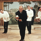 Louis de Funes in the french movie le grand restaurant