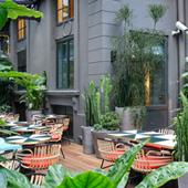 Restaurant avec terrasse végétalisée et chauffée
