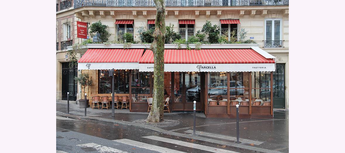 Terrasse du Marcella à Paris