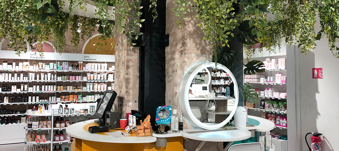 Beaute Green concept store in the Marais in Paris