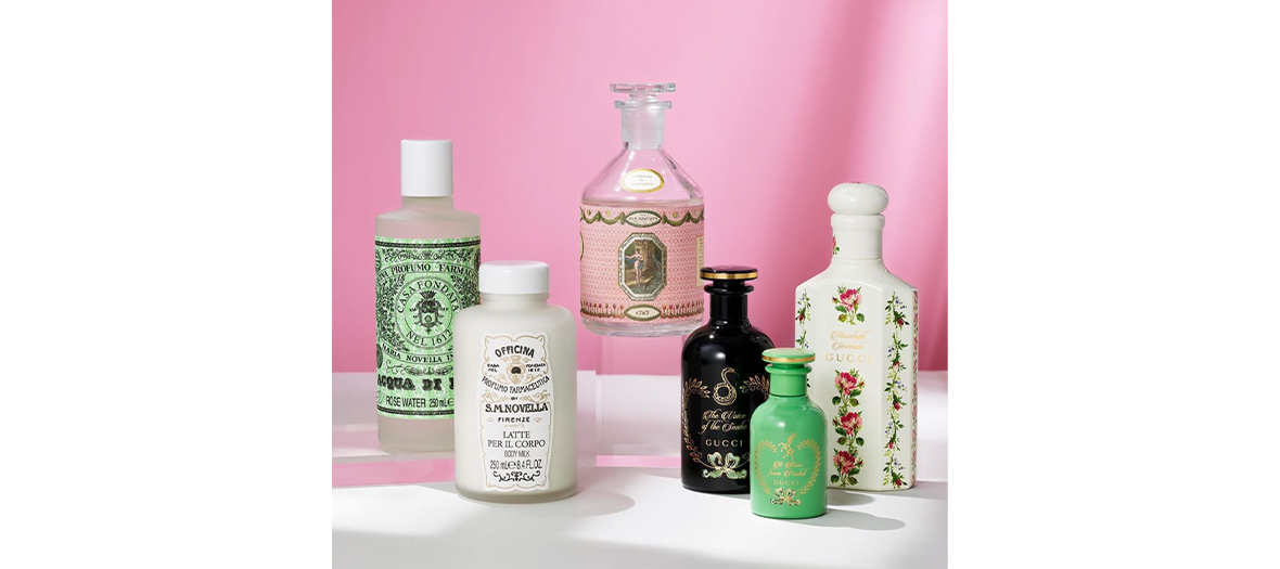 Hand creams, soap and musk shampoo from Santa Maria Novella shop