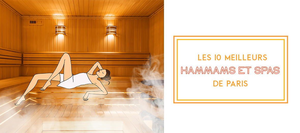 Parisian girl relaxing in a sauna