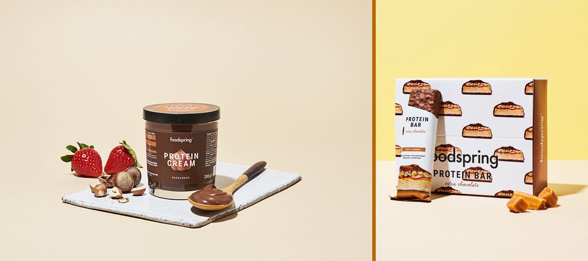 les glaces protéinées et les nouvelles barres extra chocolatées