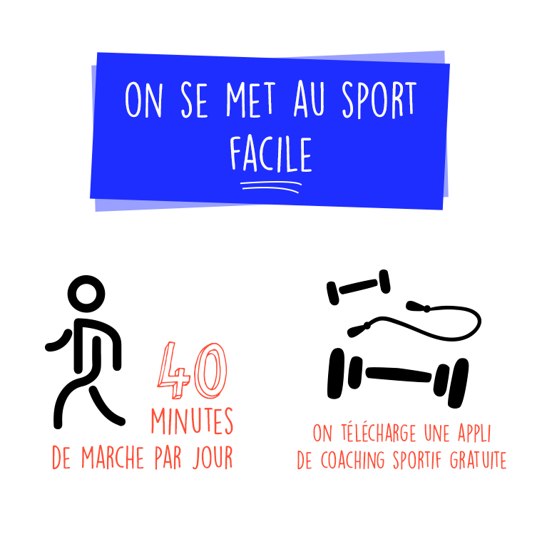 40 minutes de marche et une application de coaching sportif