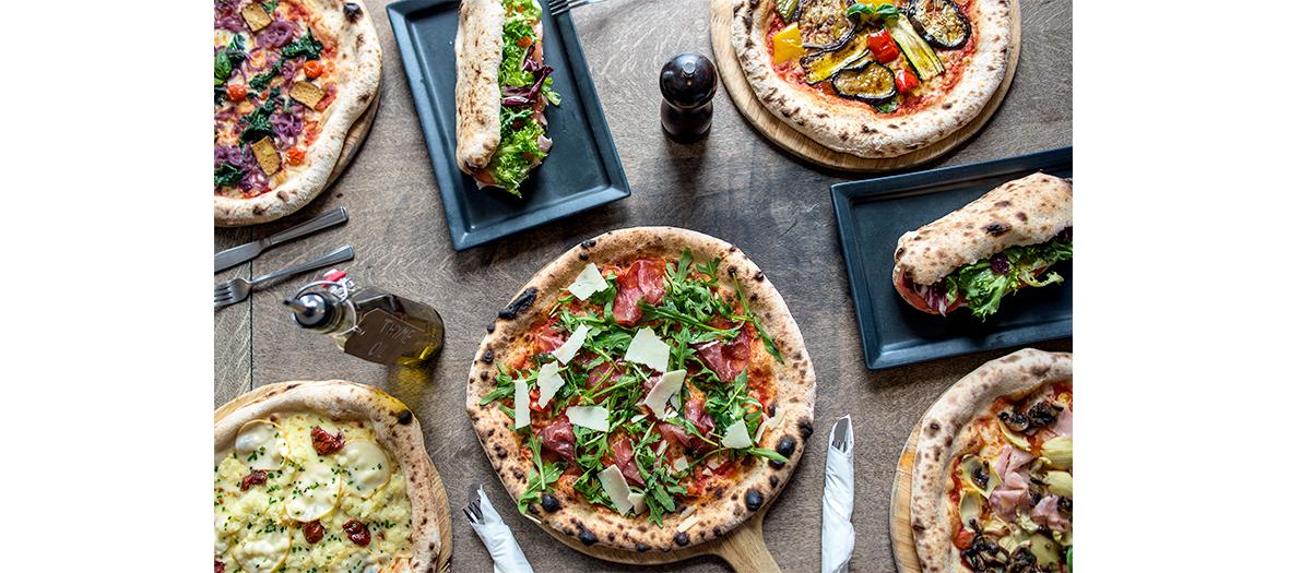 Pizza farines complètes à base de châtaigne, de riz ou de sarrasin