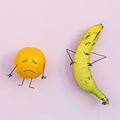 Orange et banane