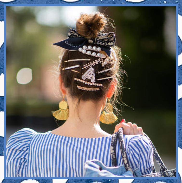 La coiffure Barrette Mania tendance de Versace, Chanel, Dolce & Gabbana à Paris