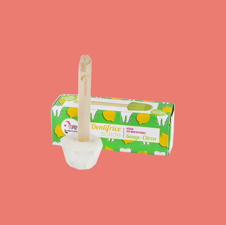 Dentifrice solide sauge et citron