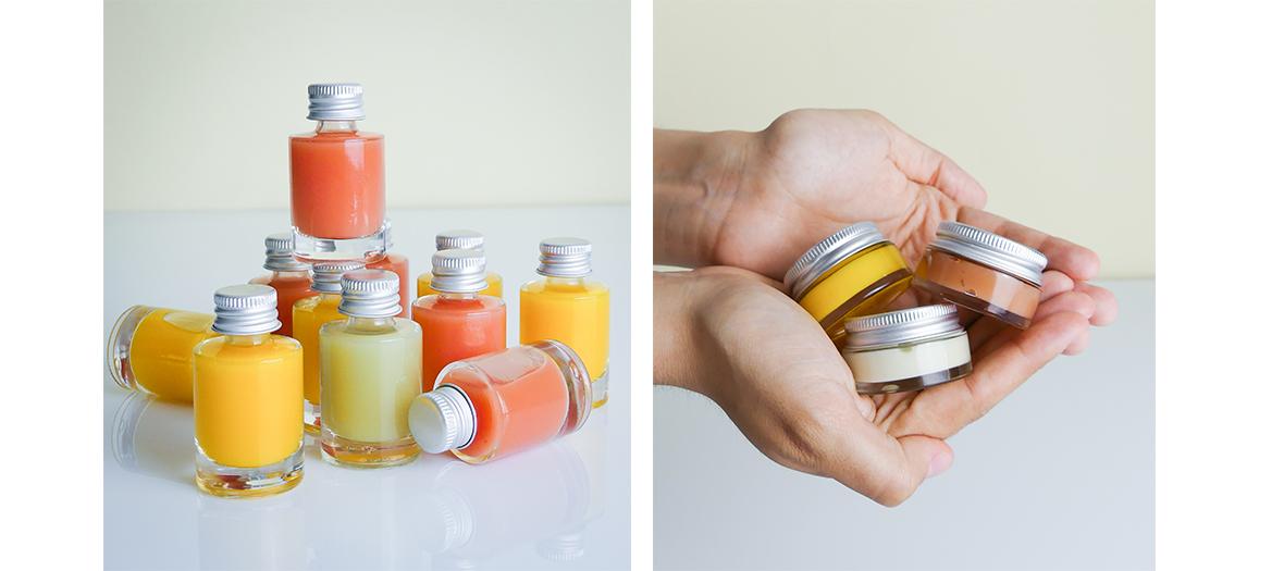 Freedge Beauty: soins visage à base de fruits et légumes bio pressés à froid sans conservateur.