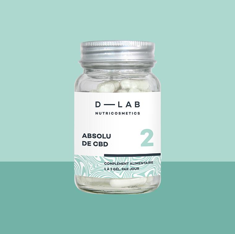 Le complément nutritionnel Absolu de CBD flacon 28 gélules végétales, D-LAB