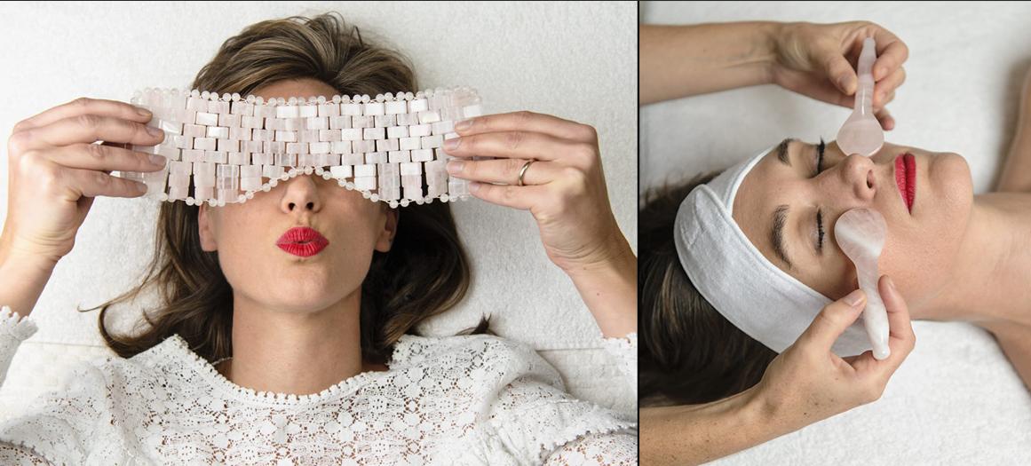Le massage manuel du visage avec pierres chaudes et froides de Delphine Langlois