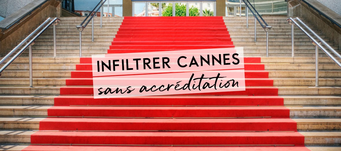 Red carpet at the Palais des festivals in Cannes