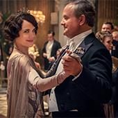 Portrait de Julian Fellowes et Michelle Dockery acteurs du film Downton Abbey