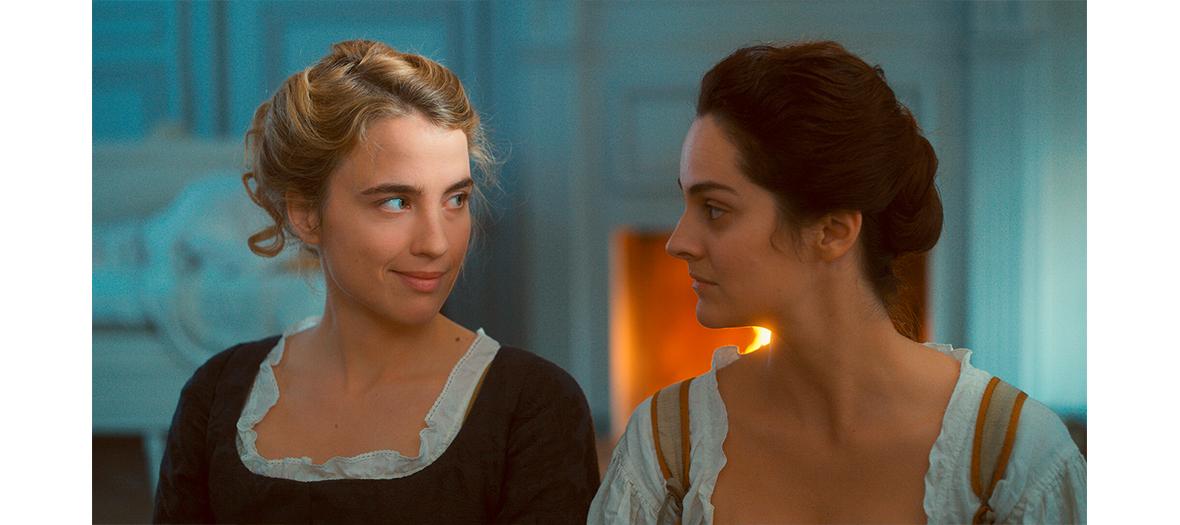 Portrait des actrices Noémie Merlant et Adèle Haenel