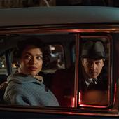 Portrait des acteurs Edward Norton et Gugu Mbatha-Raw du film Brooklyn Affairs