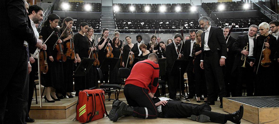 Extrait dans l'auditorium Pierre Boulez de la Philharmonie avec l'Orchestre national d'Ile-de-France