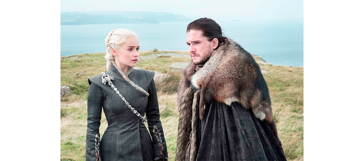 Daenerys Targaryen et Jon Snow dans Game of Thrones