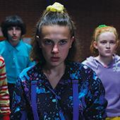 Saison 3 de la série Stranger Things avec Millie Bobby Brown, Finn Wolfhard, Noah Schnapp, Caleb McLaughlin et Sadie Sink