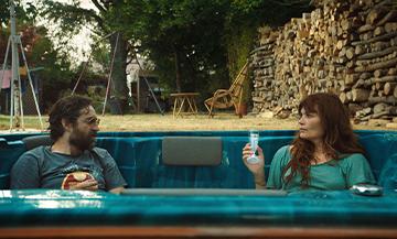 Portrait de Fabrice Gobert avec Anne Berest, acteurs de la serie Mytho