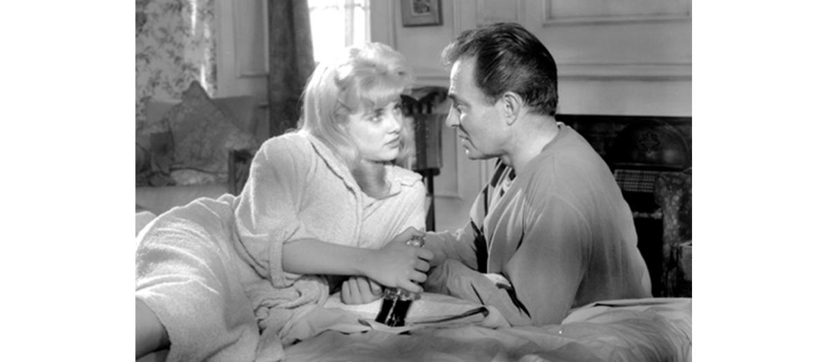 Les acteurs Sue Lyon et James Mason dans le film Lolita de Vladimir Nabokov