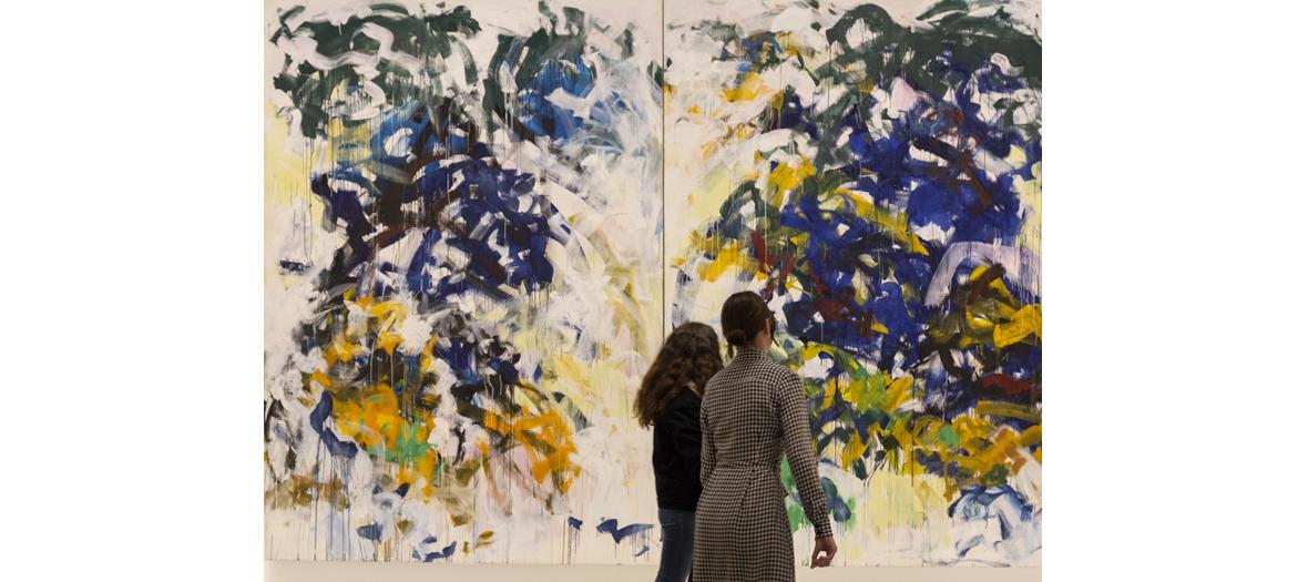 Tableau à la peinture contemporaire de Joan Mitchell