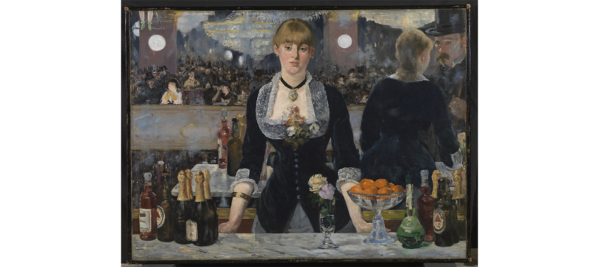 The canvas A bar at the Folies Bergères by Manet