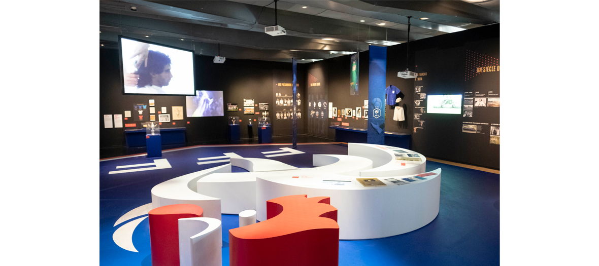 scenography of the exhibition fff 100 years of passion and innovation