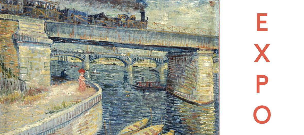 painting Les Ponts d'Asnières de Vincent van Gogh