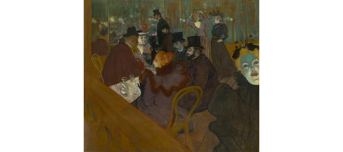 Tableau au Moulin Rouge de Toulouse-Lautrec-Monfa
