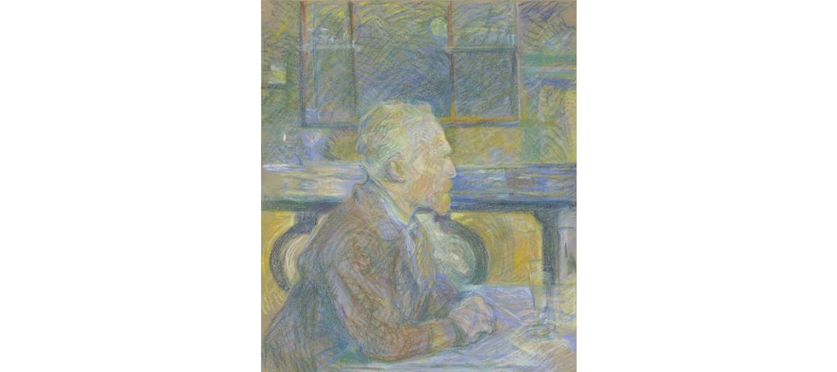 Painting portrait of Vincent Van Gogh from Toulouse-Lautrec-Monfa