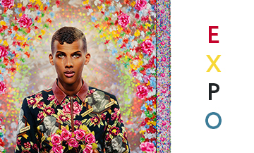 Portrait of Stromae Paul Van Haver by artists Pierre and Gilles