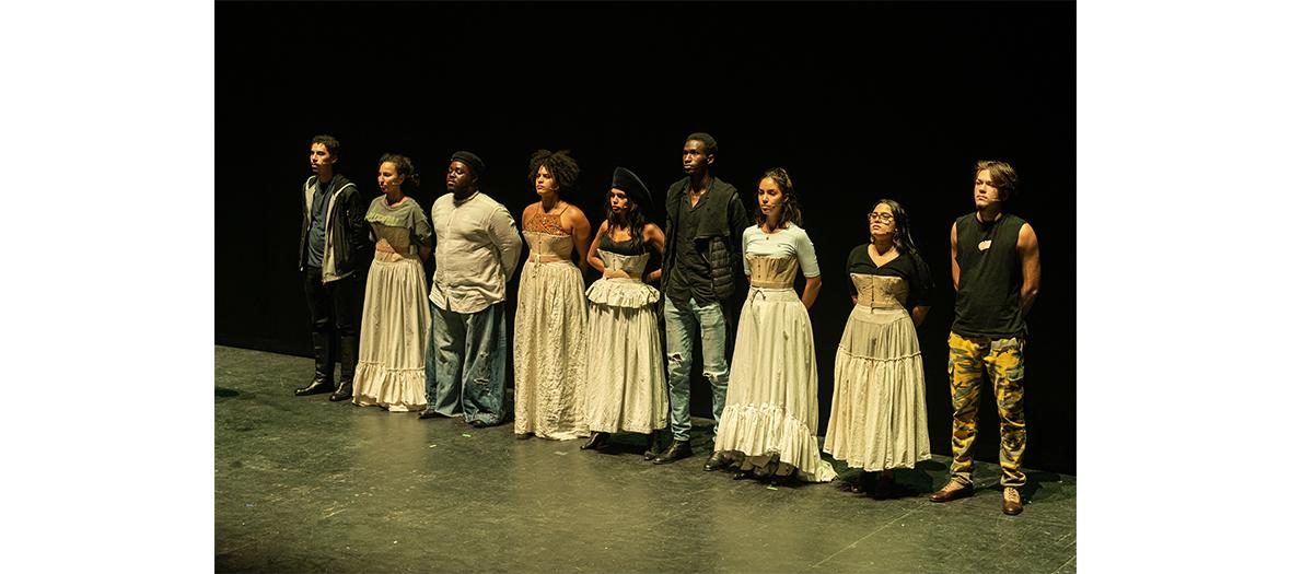 Le portrait des acteurs Marc Zinga, Sabrina Ouazani, Karidja Touré, Frédéric Chau, Clotilde Courau