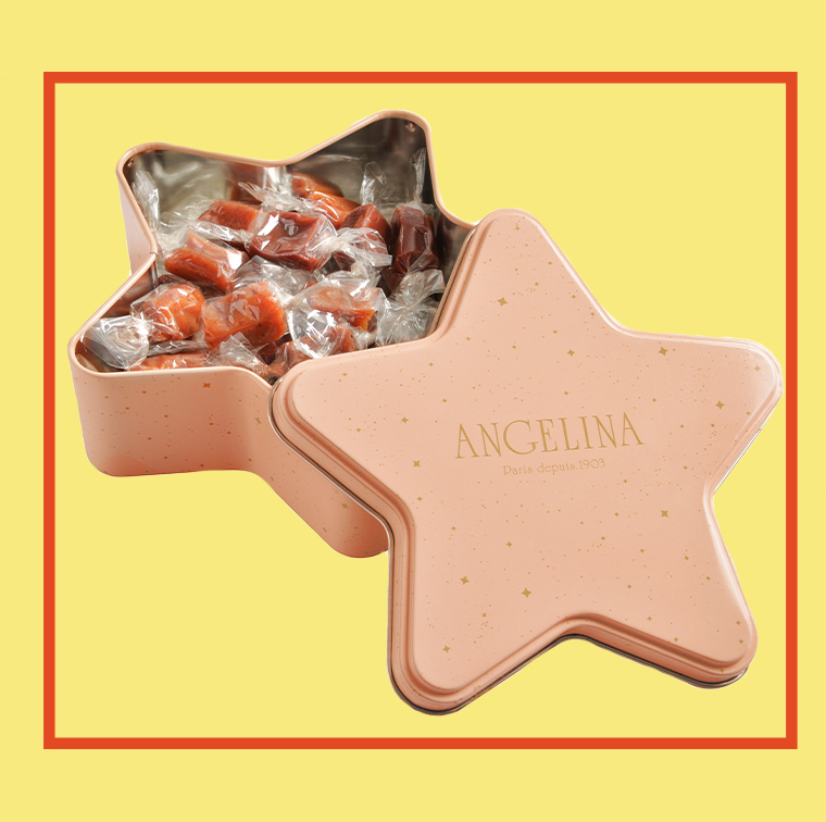 The star box mini caramels chocolate and gingerbread Angelina 13,90 €