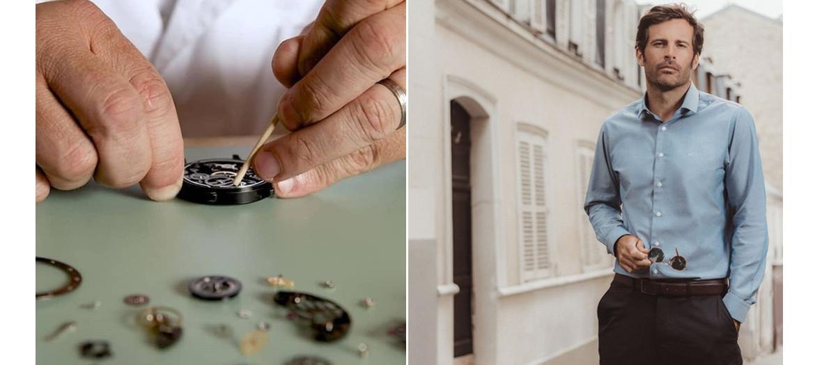 Cadeaux de Cours d'initiation à l'horlogerie Objectif Horlogerie et Kit de chemises sur-mesure chez le Chemiseur
