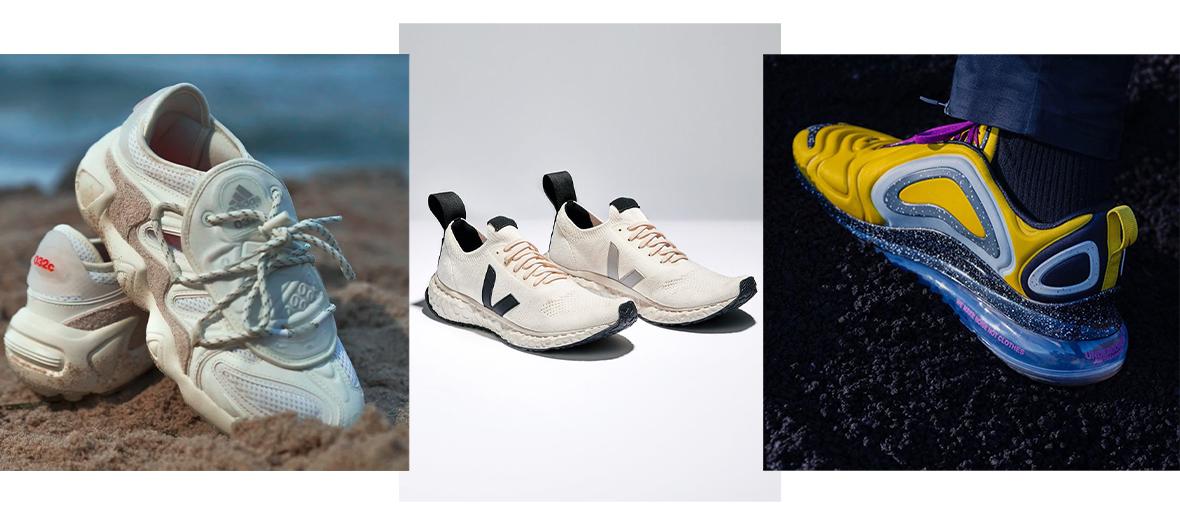 Cadeaux AIR MAX 720 UNDERCOVER de Nike à 200 €, V-KNIT de Veja x Rick Owens à 250 € et Salvapor de Adidas x 032c à 179,95 €