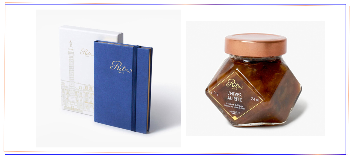 deluxe stationary €39, the house honey and jams €9.50 of The Ritz