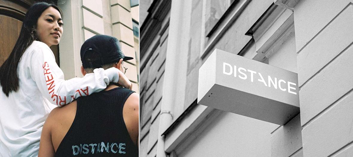 Devanture concept store Distance