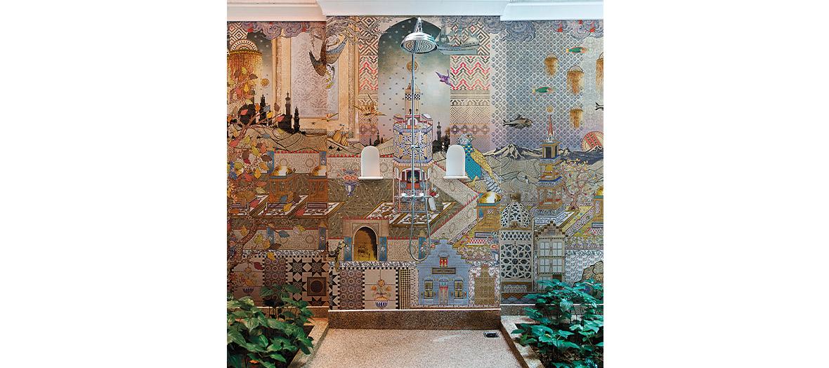 Papiers peints tendances spéciale salle de bain en fibre de verre de Londonart et Marcel Wanders