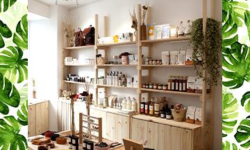 Déodorant vegan en stick solide, huiles essentielles énergisantes, lingerie slow fashion, sac seau en cuir végétal et lessive clean