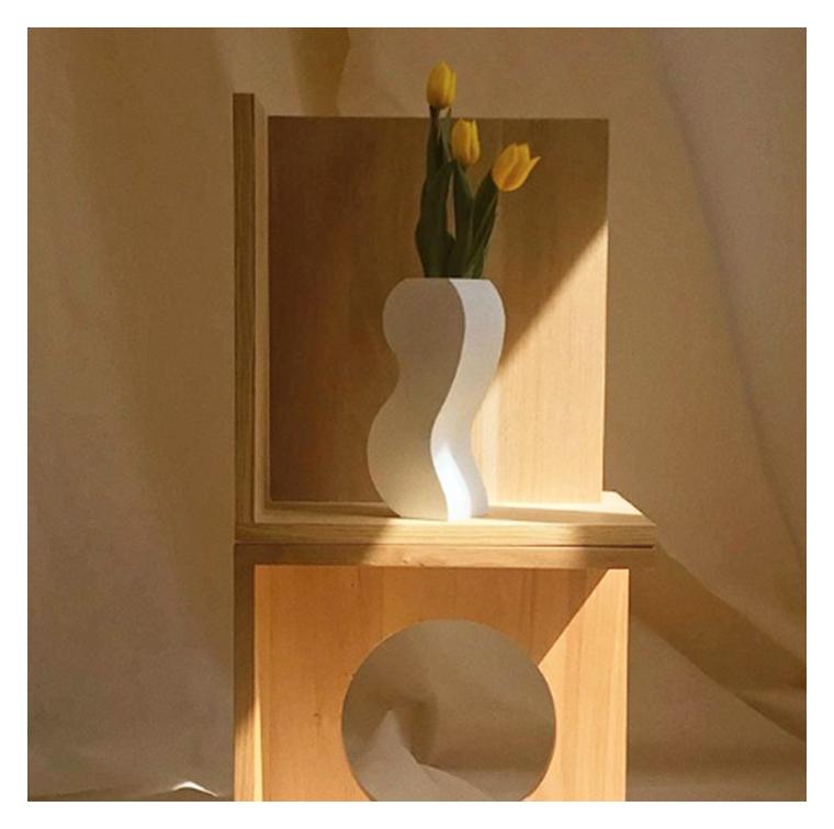Le vase aux formes imprimées 3D d'Eimear Ryan chez Argot Studio