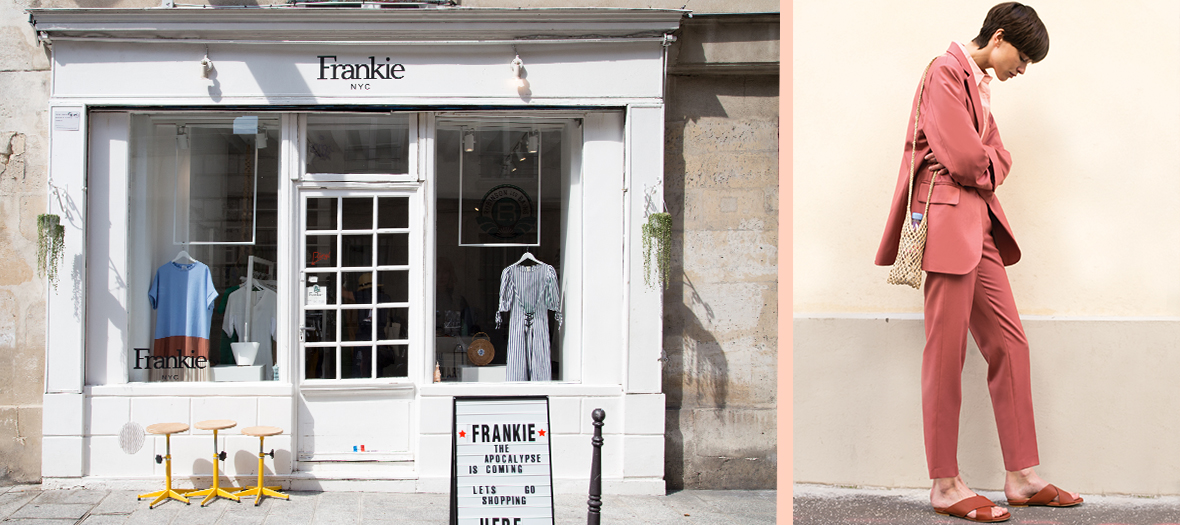 Exterior facade of the Frankie Shop Marais Multibrand Boutique