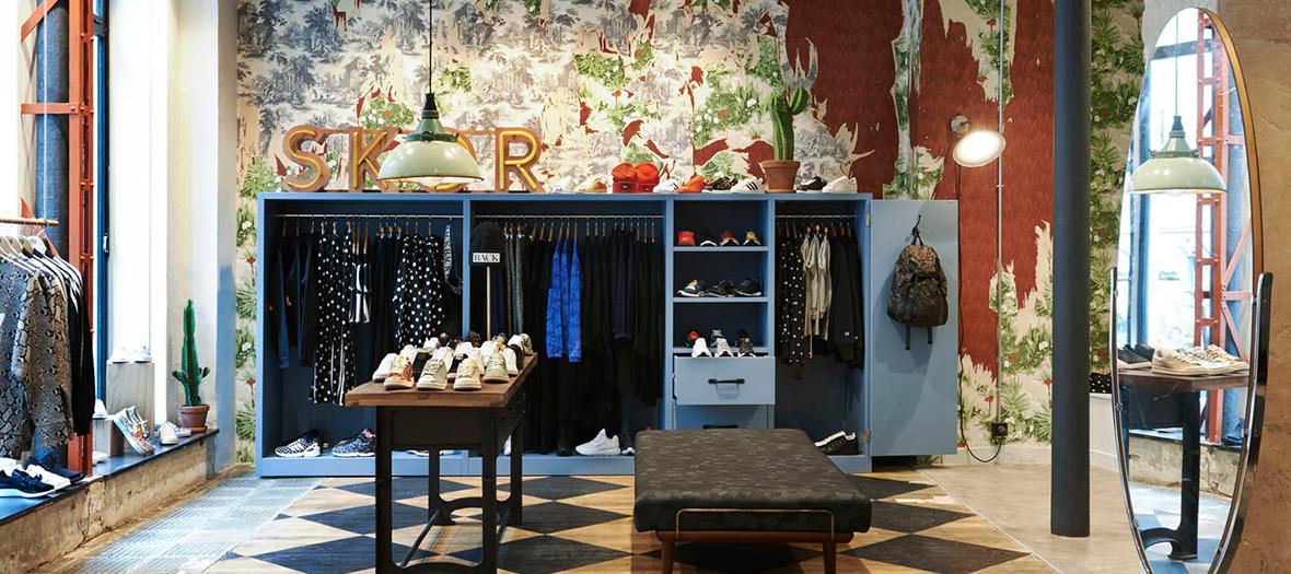 Intérieur et décoration de la boutique de sneakers sneakersnstuff