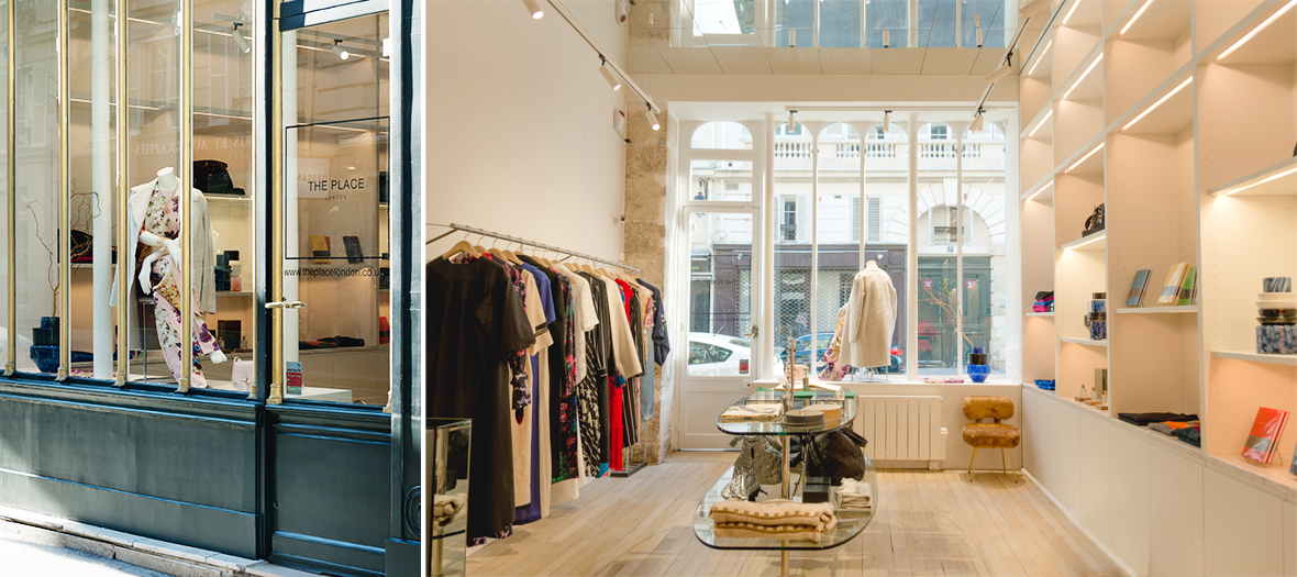 Boutique mode londonienne à Paris