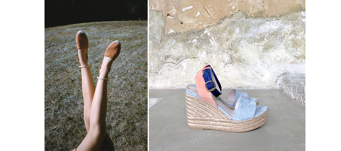 Espadrilles high heels