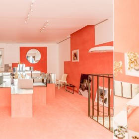 Inside room of the pop up G.Kero and Annelise Michelson in Paris