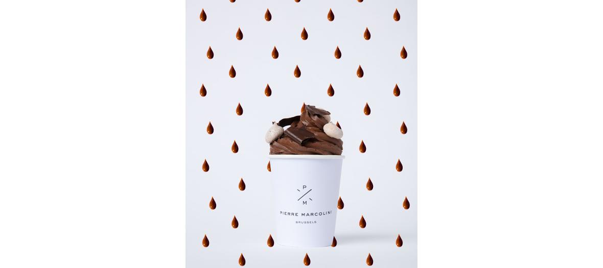 Le chocolat chaud de Pierre Marcolini chocolatier belge  aux Galeries Lafayette des Champs-Élysées